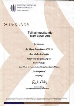 Teilnahme am Bundeswettbewerb Fremdsprachen