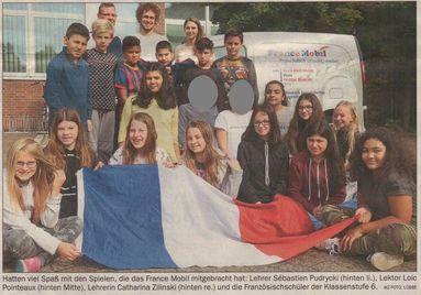 France Mobil besucht die OBS Mitte